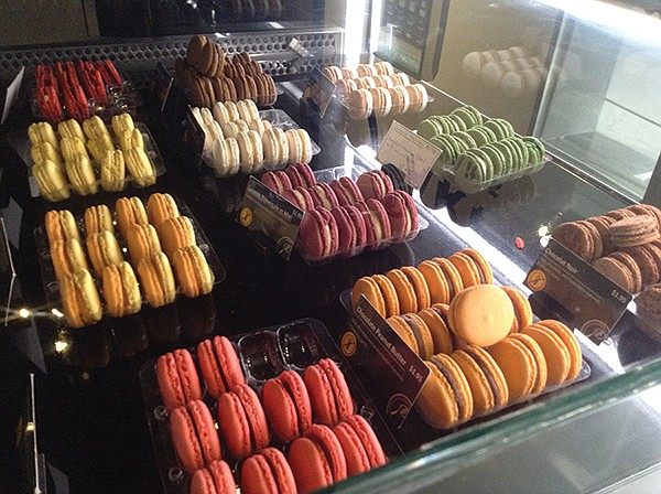 "Macarons like ""Provençale lavender and honey"" and ""chocolate peanut butter."""