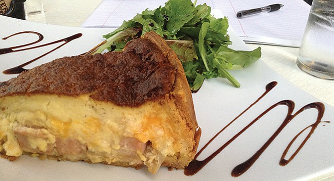 Quiche Lorraine. The sweetness of the caramelized onions helps, plus the nutmeg,