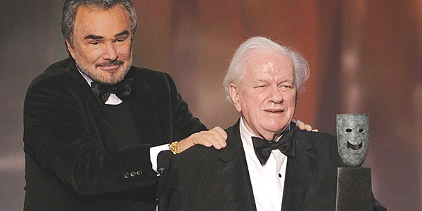 "With Charles Durning.  ""He was my dad's favorite actor, the first guy he wanted to meet when he came to L.A."""