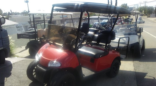 "Sundance Golf Cars refurbishes golf carts. Owner Luke Matheny says the ""technology keeps getting better."""
