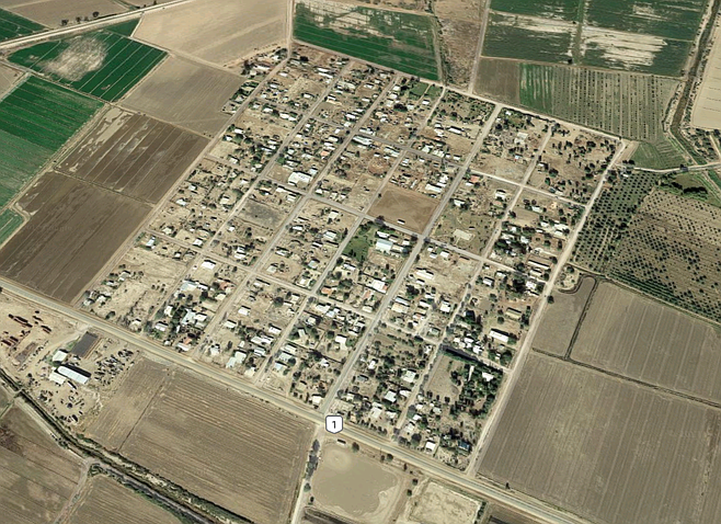 Ejido Jalapa, south of Mexicali, site of the only known death resulting from the suspected meth-infused soda