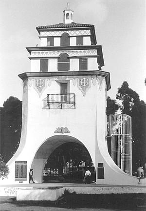Replica of bell tower in Agua Caliente