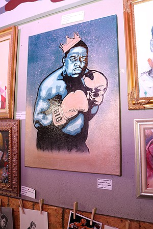 The Biggie Smalls portrait was sold.