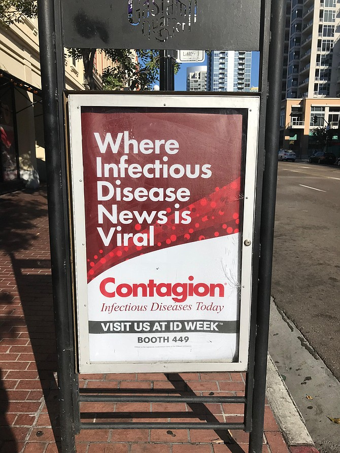 Contagion convention poster downtown