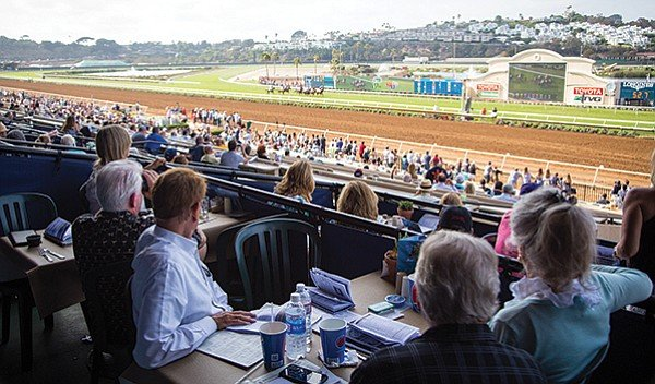 """The Del Mar grandstand """"can work well"""" with attendance capped at 38,000."""