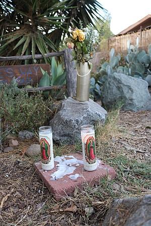 Memorial at trailhead
