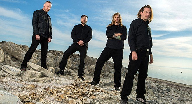 Cattle Decapitation defrosts by the Salton Sea after their Reykjavík trip  (Travis Ryan, right)