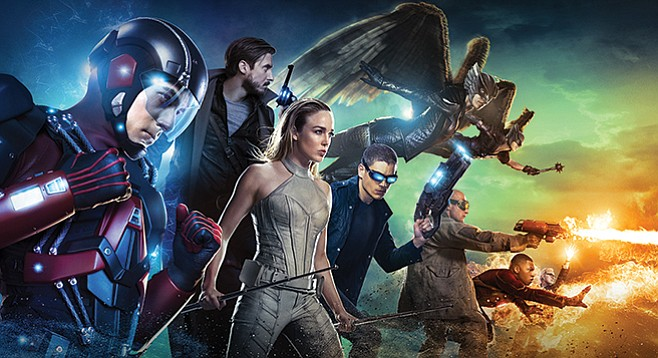 Legends of Tomorrow. Characters unwillingly thrown together to travel through space and time.