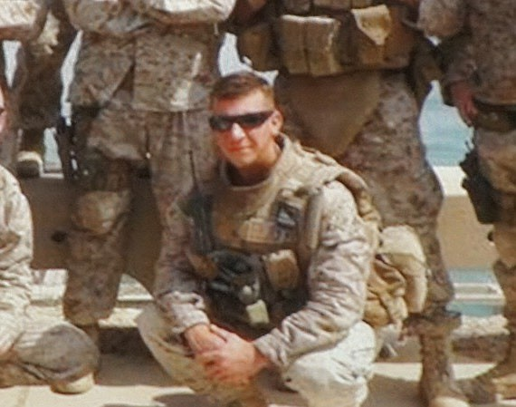 Photo of Strouth when he was deployed to Iraq. Photo by Eva
