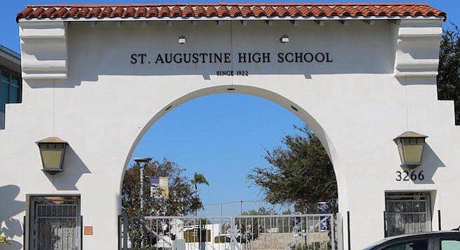 Entrance to St. Augustine High School