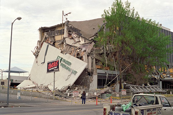Kaiser Permanente building after the 1994 Northridge earthquake