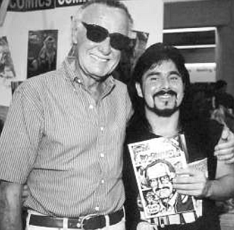 Stan Lee with the author