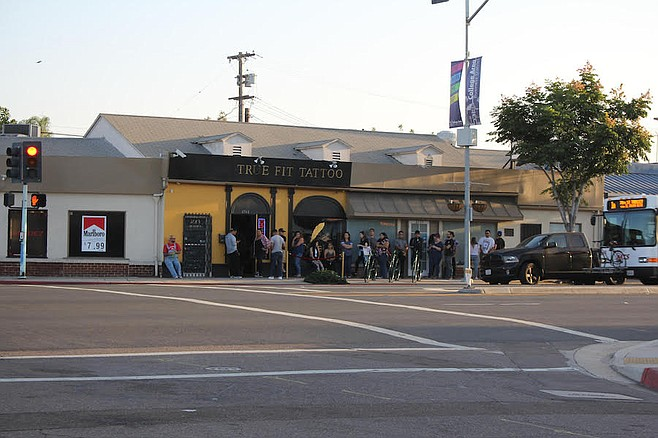 Line outside True Fit (6561 El Cajon Blvd, between Rolando Blvd and Amherst St)