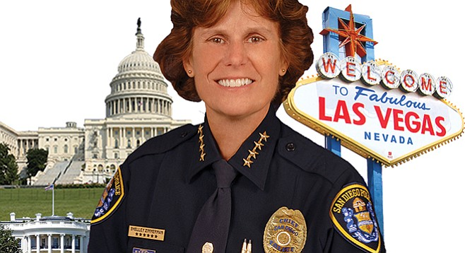 In advance of her March 2018 retirement as police chief, Shelley Zimmerman exercises her travel muscle.