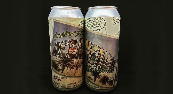 Cans of Oceanside's destination beer, courtesy of Midnight Jack Brewing Company.