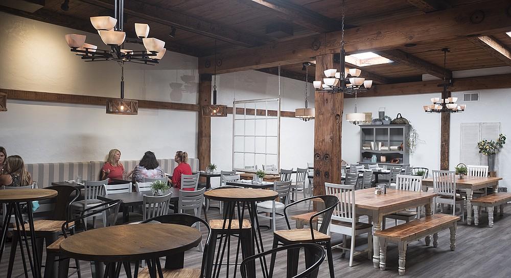 A breezy dining room for farm-to-table, California-casual cuisine