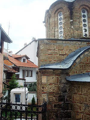 Churches with guard stations in Prizren.