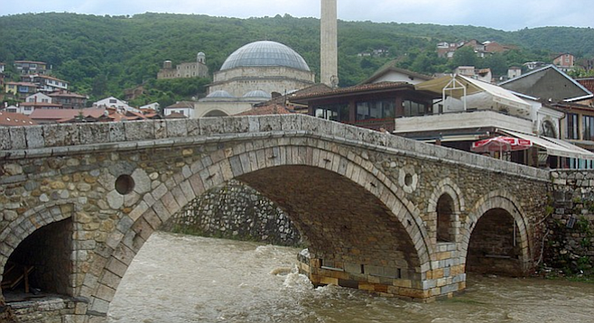 Fourteenth-century bridge in Prizren, Kosovo.