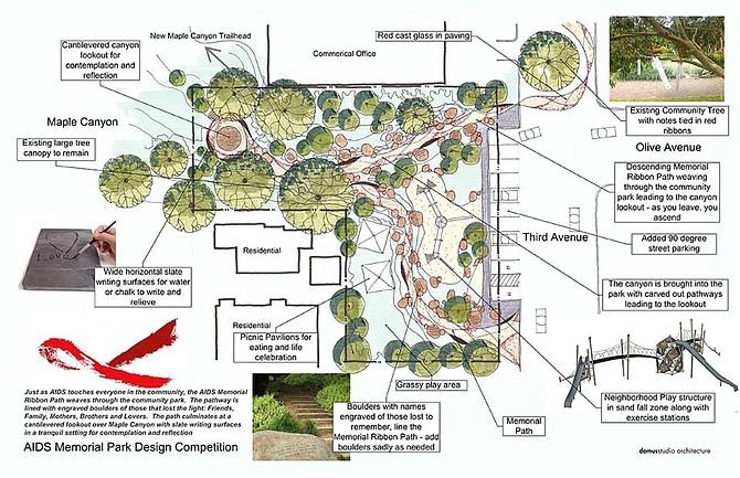 Olive Street AIDS memorial park design sent to city for consideration