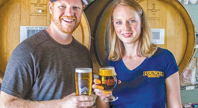 Liz and Curtis Chism of Kearny Mesa's Council Brewing