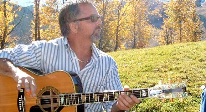 Paul Hartley in Aspen (2005) with John Denver's #2 guitar