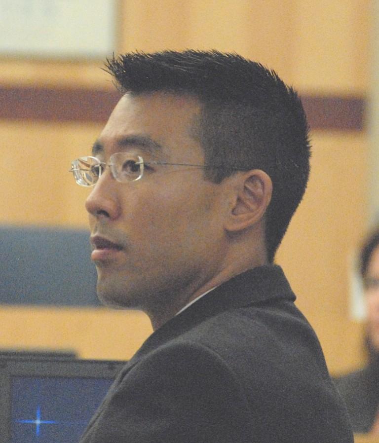 Prosecutor Keith Watanabe has computer animation for the jury.