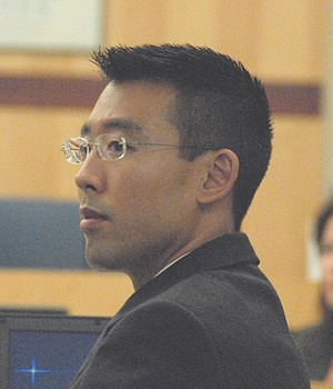Prosecutor Keith Watanabe has computer animation for the jury.