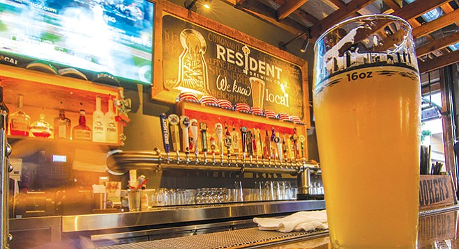 Resident Brewery at the back of the Local Eatery & Drinking Hole in Gaslamp