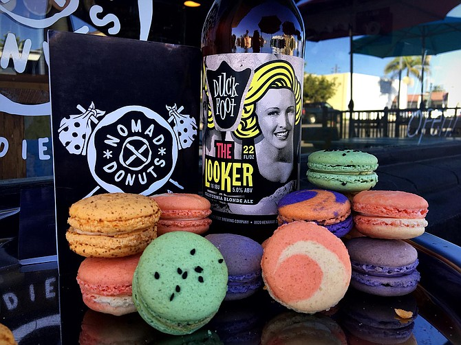 Duck Foot beer and Nomad macarons at this unique pairing event