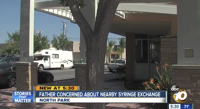 A 10News report addressed residents' concerns about Family Health Centers' syringe distribution site.