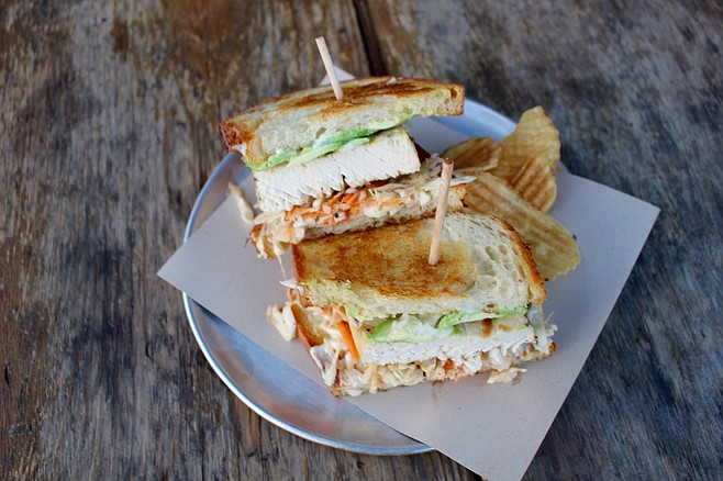 The swordfish sandwich.