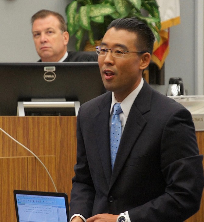 Judge Bowman and Watanabe in court.