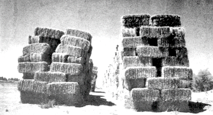 """""""The arsonist attempted to set 31 hay stacks afire the first night, and 17 of them burned."""""""