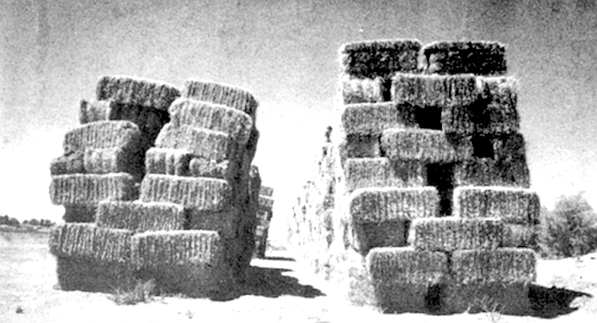 """The arsonist attempted to set 31 hay stacks afire the first night, and 17 of them burned."""