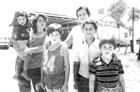Maria Magallanez and family. All of the Magallanez children have a name that starts with A.