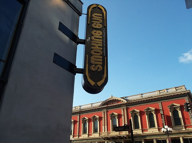 The Smoking Gun in the Gaslamp was a former shooting gallery back in the day.
