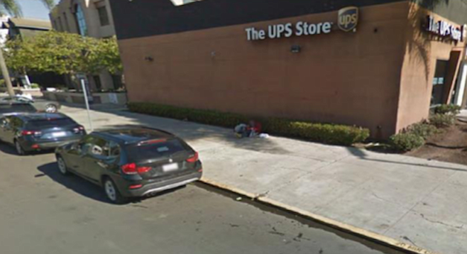 The owner of the UPS Store on Washington Street opposes the siting of a DecoBike station outside.
