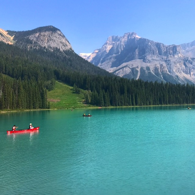 Canoers on Emerald Lake.