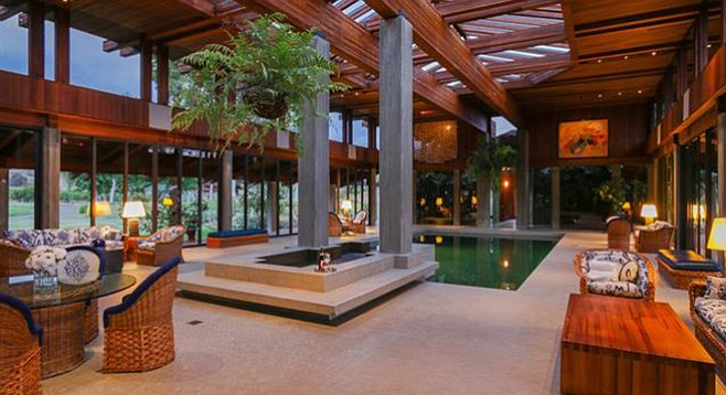 "A ""magnificent indoor pool and spa"""