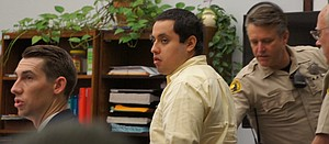 Roberto Flores stood up to curse the jury in his most recent trial. Photo by Eva