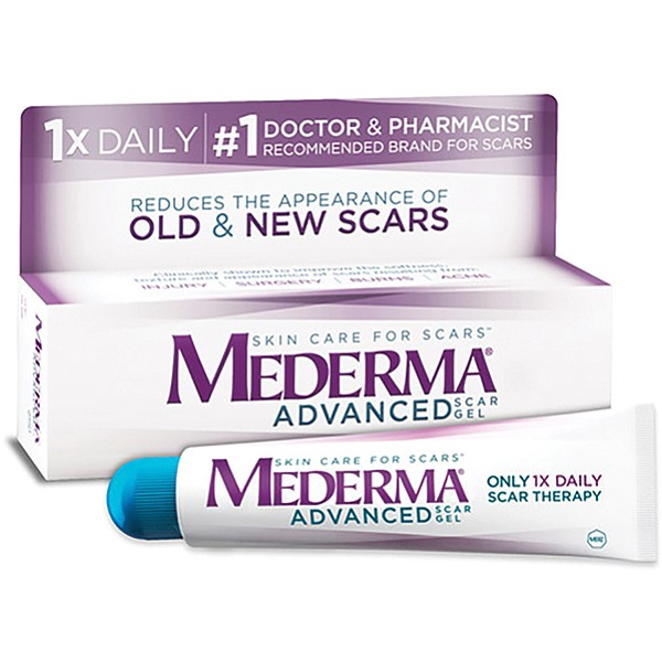 Good ol' Mederma, complete with PEG-4, Aloe barbadensis leaf juice, Allium cepa (onion) bulb extract, xanthan gum, allantoin, methylparaben, sorbic acid, and fragrance