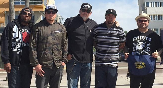 Traa Daniels, Sonny Sandoval, Michael Halloran, Wuv Bernardo, and Marcos Curiel