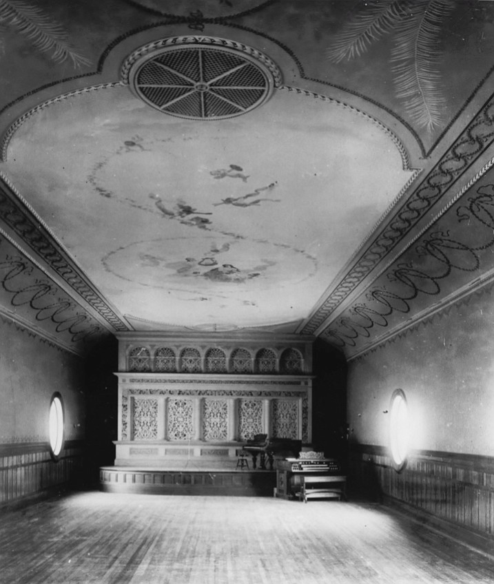 View of stage from foyer, 1898