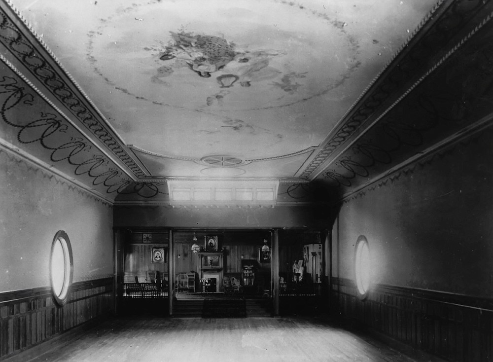 View from stage to foyer, 1898