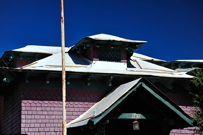 The city spent $30,000 on custom tarps for the roof and other preservation measures.