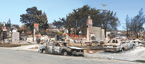 Aftermath of 2010 San Bruno pipeline explosion