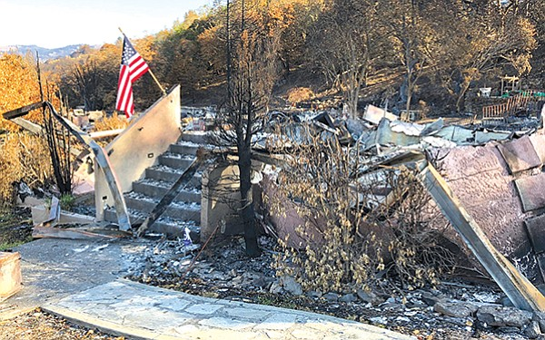 Remains of burned home in Santa Rosa
