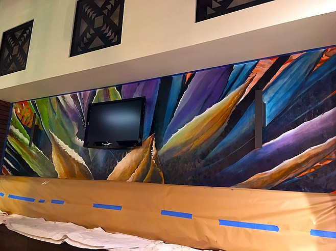 A work of Christopher Kinney's commissioned by Lolita's Mexican restaurant in downtown San Diego