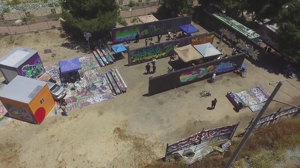 Drone's view of Writerz Blok lot