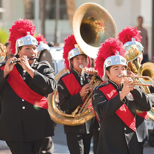 Performances by ten Southern California high-school marching bands